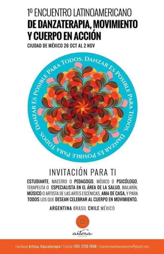 Cartel Encuentro Danzaterapia