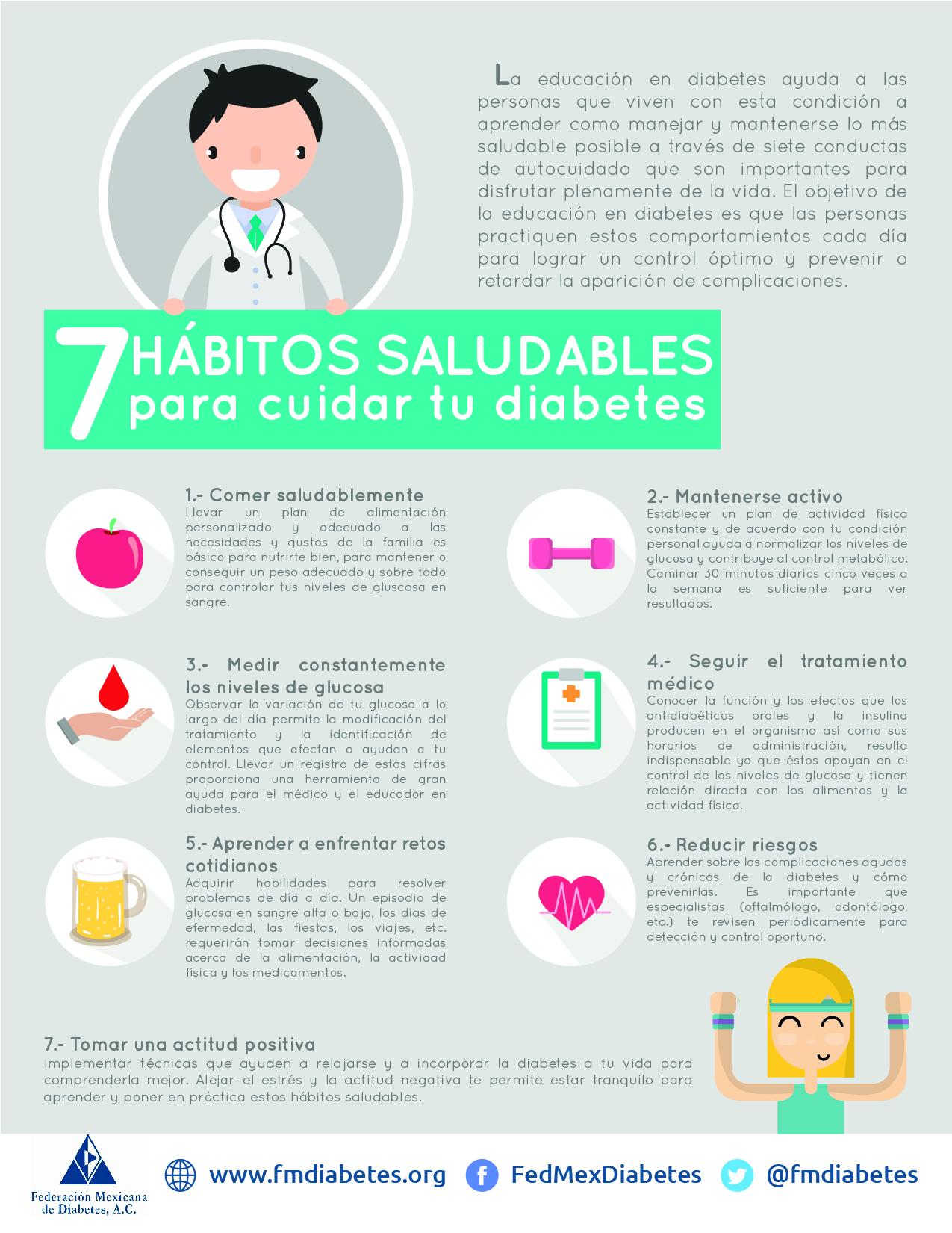 7 hábitos saludables para cuidar tu diabetes - Federación