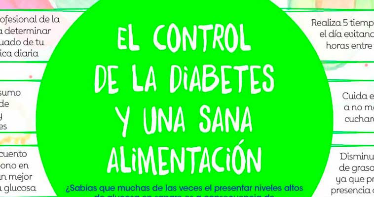 El control de la diabetes y una sana alimentación