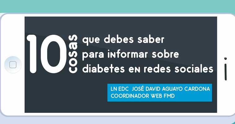 10 cosas que debes saber para informar sobre diabetes en redes sociales