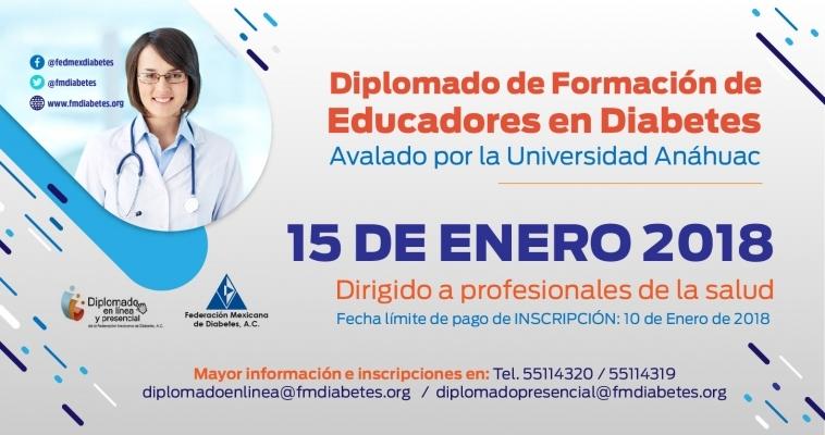 Diplomado de Formación de Educadores en Diabetes Modalidad en Linea