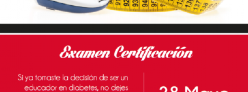 Educador en Diabetes Certificado por la CONED