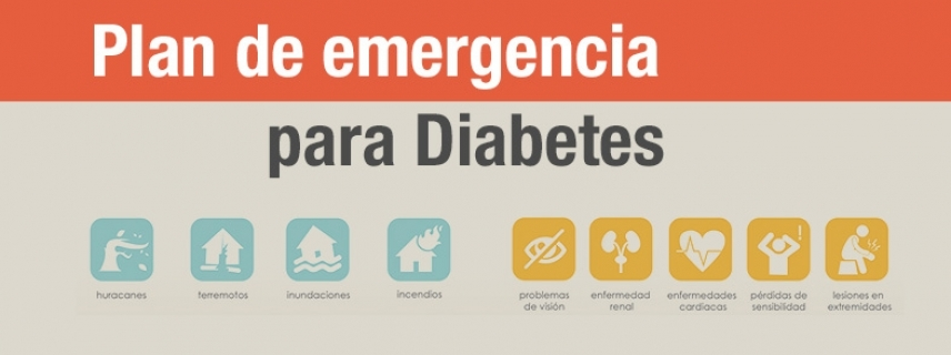 Plan de emergencias para Diabetes