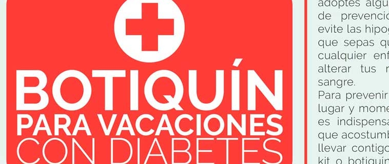 Botiquín para vacaciones con diabetes