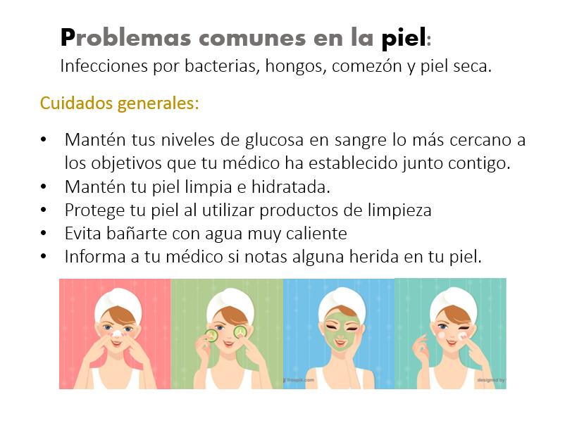 Diabetes y el cuidado de la piel