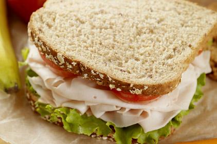 Desayunos Azules: Sándwich de jamón con queso