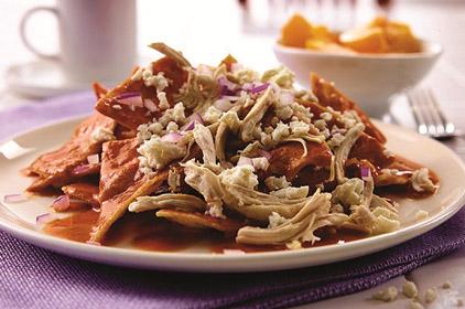 Desayunos Azules: Chilaquiles con pollo