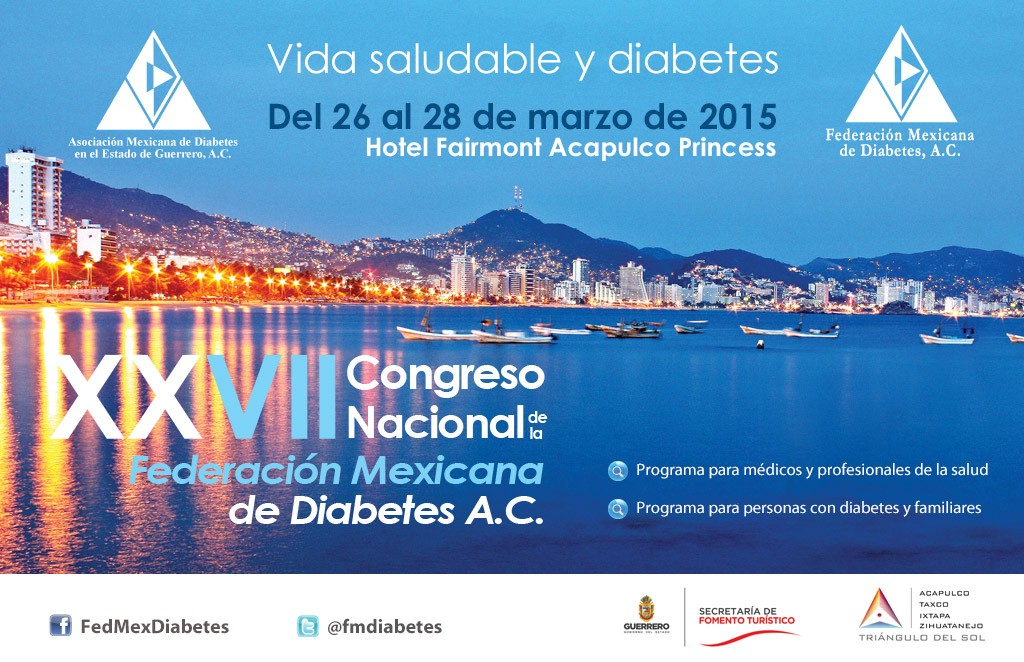 Comenzó en Acapulco el XXVII Congreso Nacional de la Federación Mexicana de Diabetes, A.C.