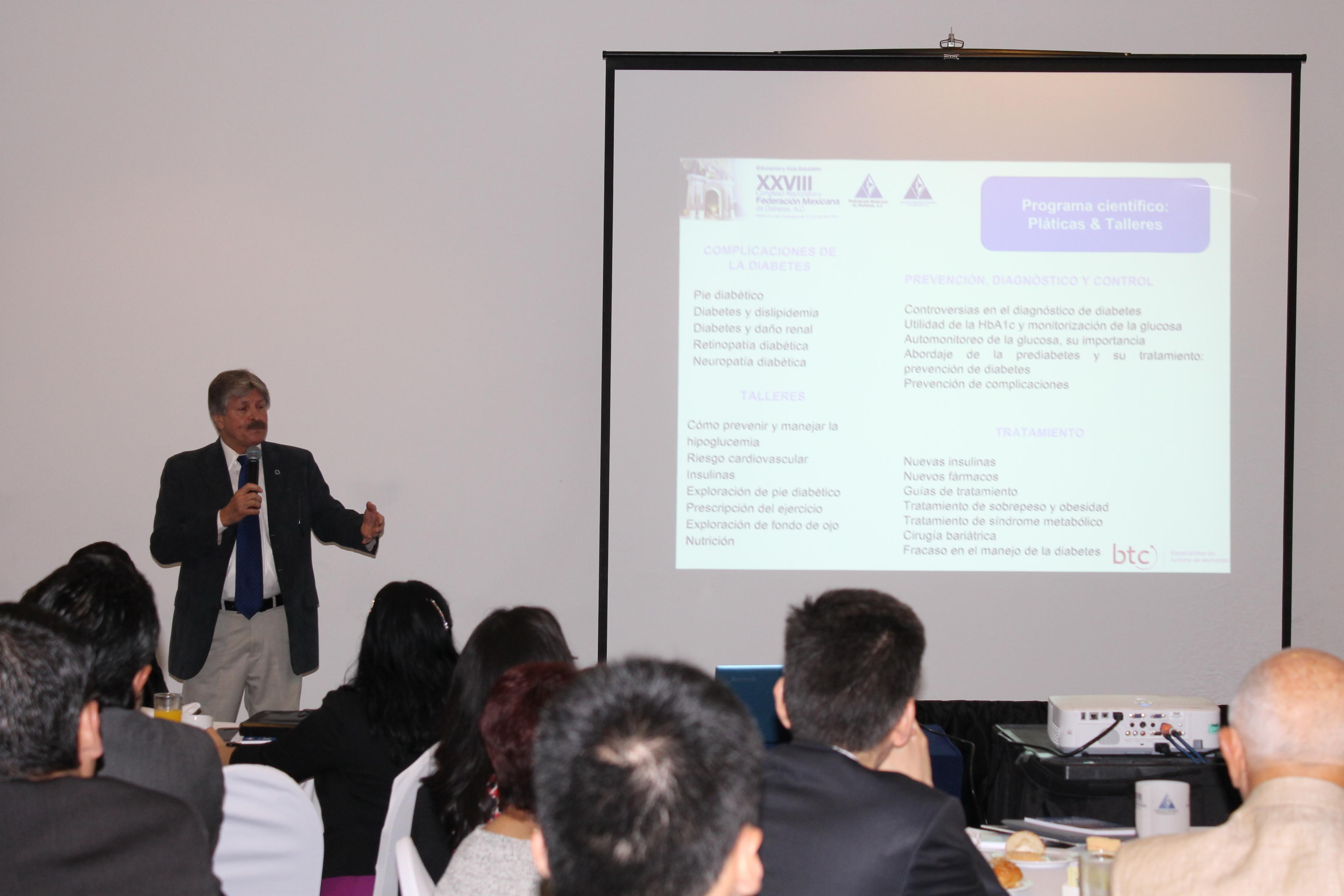 La Federación Mexicana de Diabetes, A.C. presentó este martes la sede y fechas para el Congreso Nacional de 2016