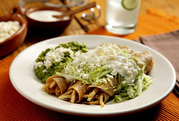 Tacos de pollo con verduras