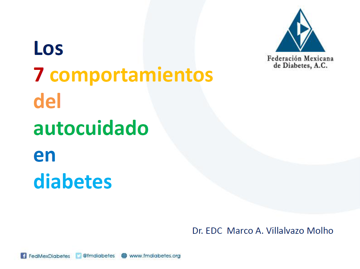 Los 7 comportamientos del autocuidado en diabetes