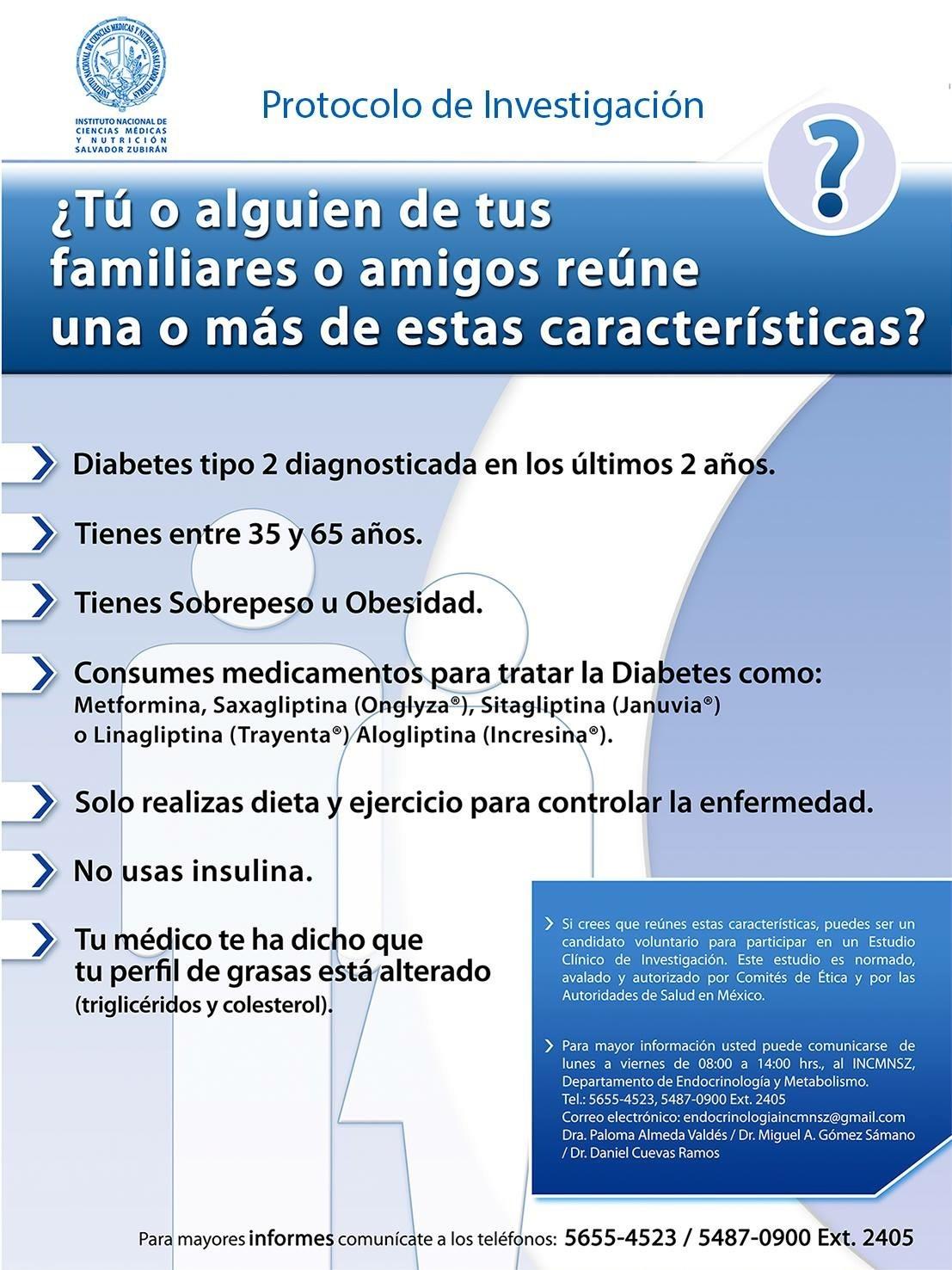 Protocolo de Investigación en diabetes