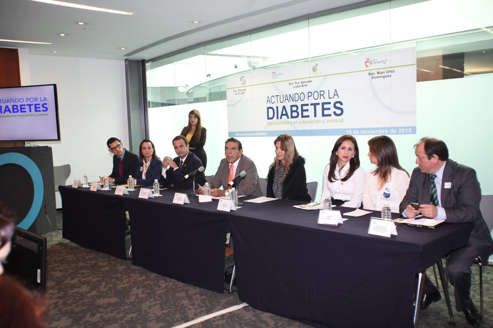 Primer Jornada de salud enfocada en diabetes en el Senado, iniciativa impulsada por la FMD
