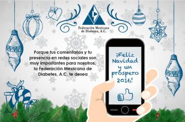 La Federación Mexicana de Diabetes, A.C. les desea una feliz Navidad y un Prospero 2016