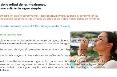 Más de la mitad de los mexicanos,  no toma suficiente agua simple