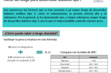 Obesidad abdominal factor de riesgo para diabetes tipo 2