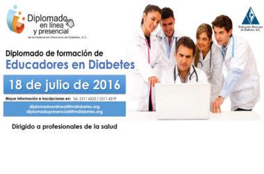 Diplomado de educadores en Diabetes, presencial y en línea