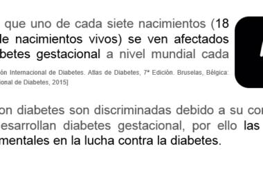Mujeres en la lucha contra la diabetes