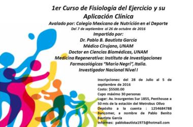 Curso de Fisiología del Ejercicio y su Aplicación Clínica