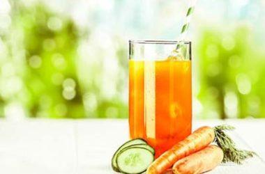 Agua fresca de pepino, melón y zanahoria