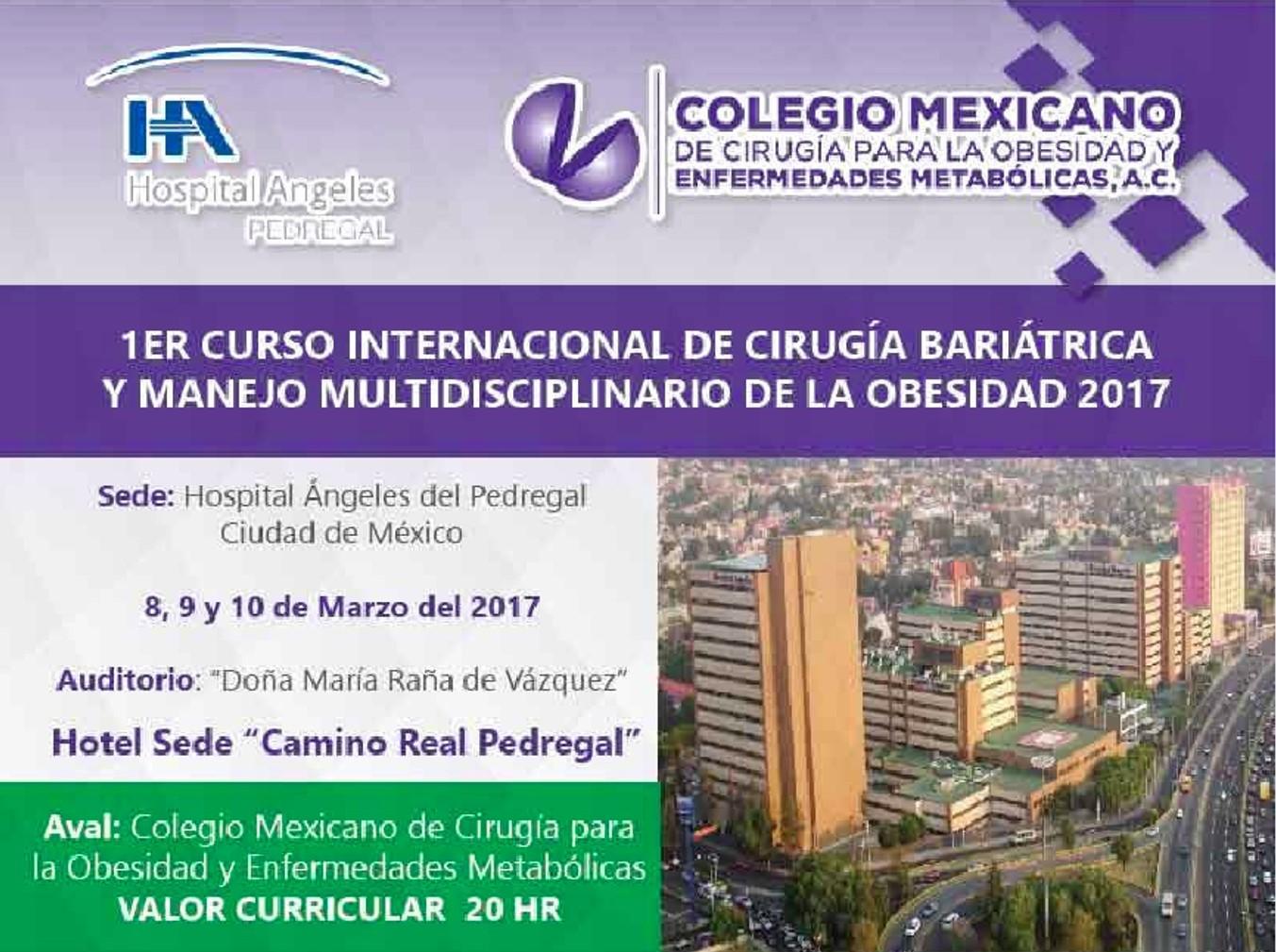 1ER CURSO INTERNACIONAL DE CIRUGÍA BARIÁTRICA Y MANEJO MULTIDISCIPLINARIO DE LA OBESIDAD 2017