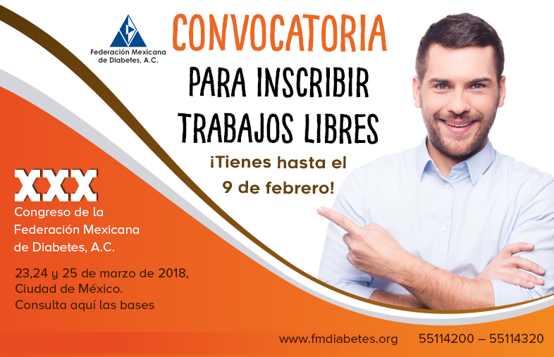 CONVOCATORIA PARA INSCRIBIR TRABAJOS LIBRES 2018