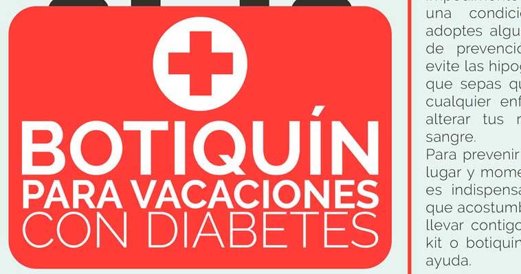 Botiquín para vacaciones con diabetes