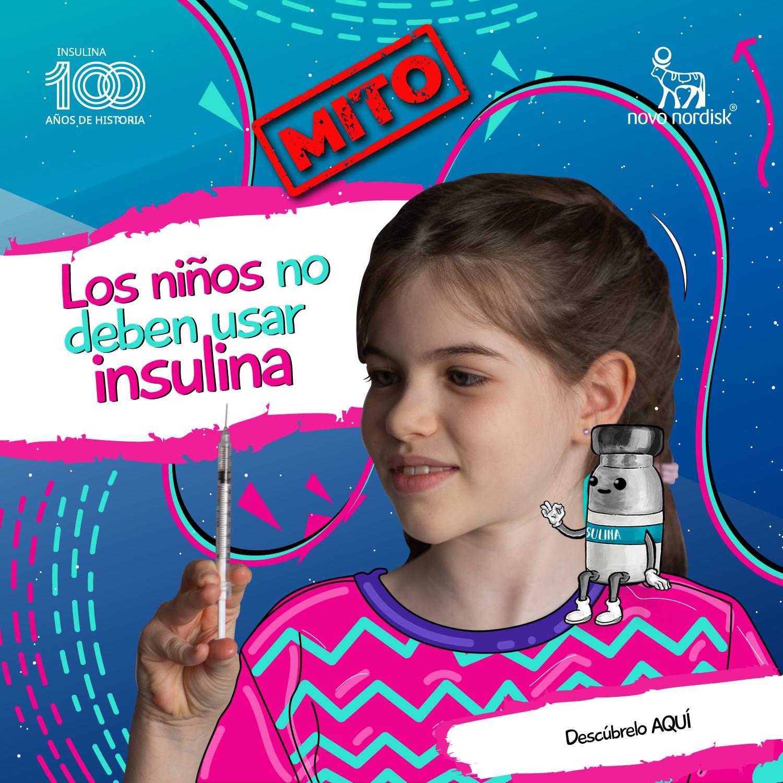 ¿Los niños no deben usar insulina?